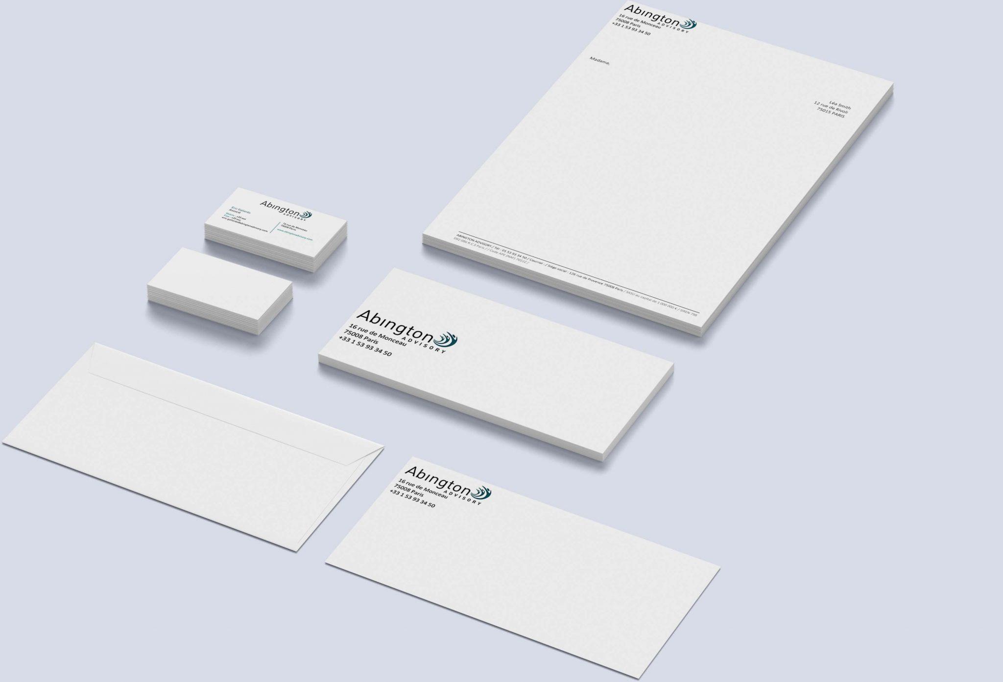 CLIENT: ABINGTON / AGENCE LES PAPILLONS DE JOUR  Changement de couleur pour Logo