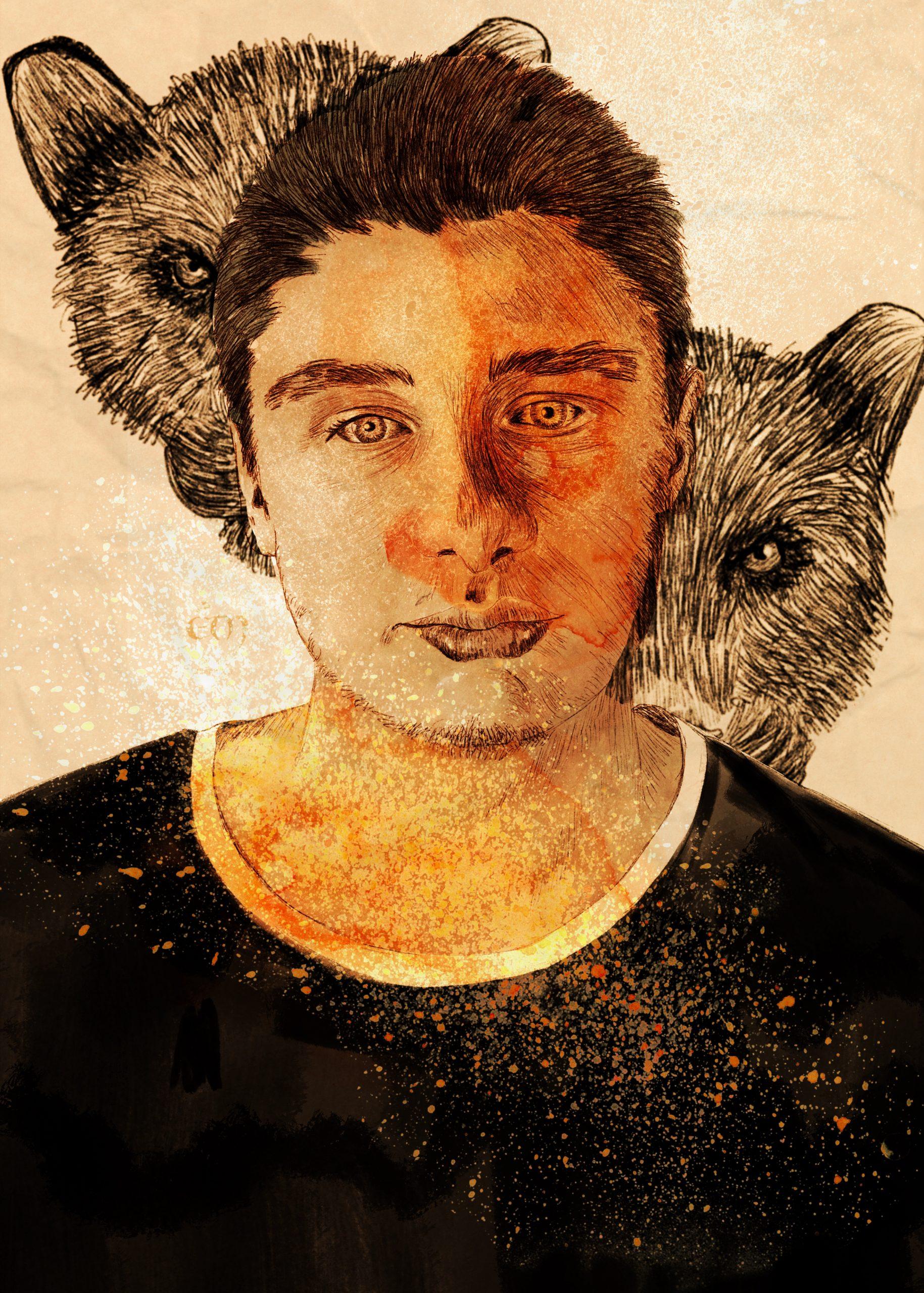 PORTRAIT / BLACK PANTHER   digital painting, aquarelle, dessin