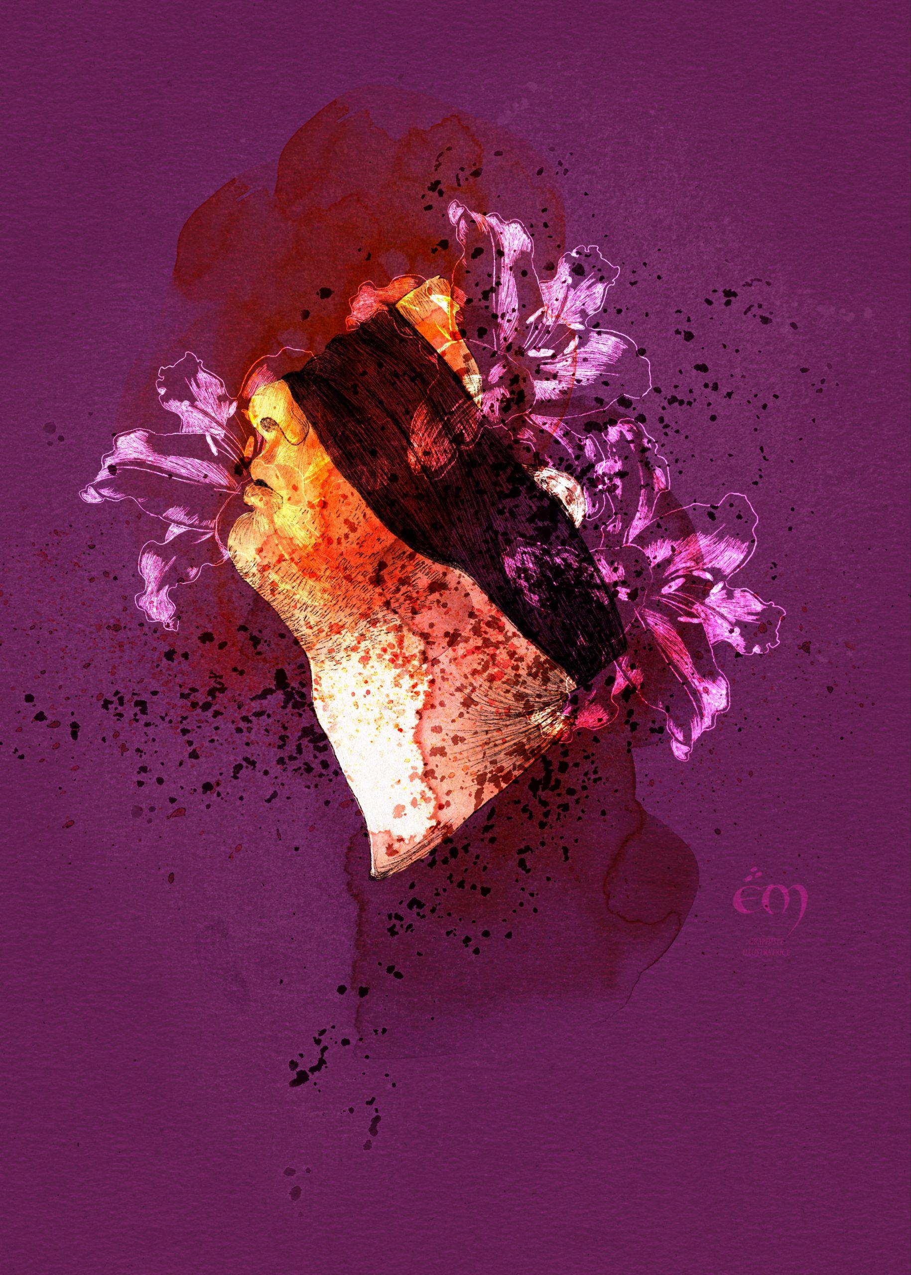 PORTRAIT / JUSTICE IS BLIND  digital painting, aquarelle, dessin