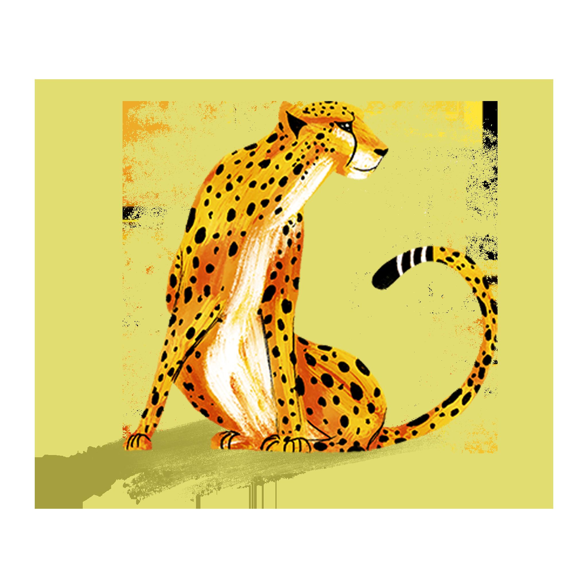 """ANIMAL ILLUSTRATION """"Un guépard"""" Peinture numérique  """"A cheetah"""" Digital painting"""