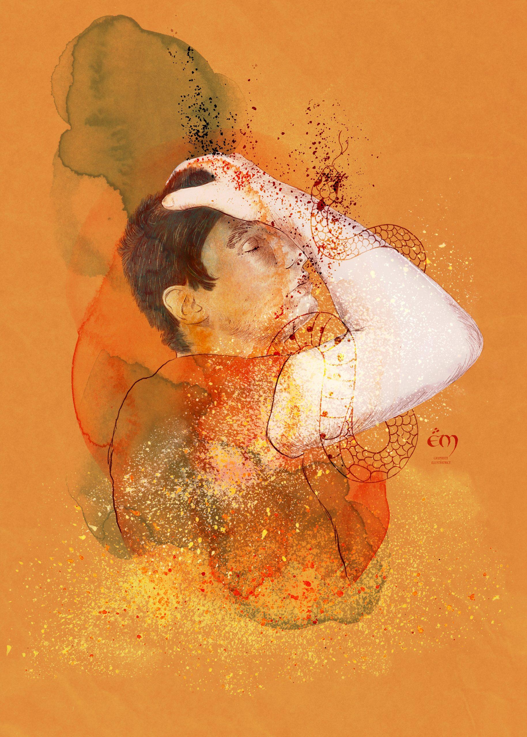 PORTRAIT / MY HEAD digital painting, aquarelle, dessin